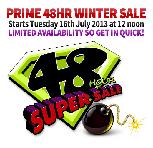 48 Hour Super Sale Starting at 12 Noon!
