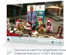 Watch the Gingerbread House Challenge featured on TVNZ's Good Morning show