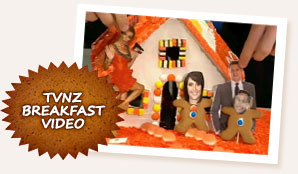 Gingerbread House Challenge on TVNZ Breakfast Show