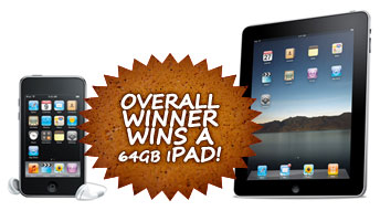 Overall Winner Wins a 64gb iPad!