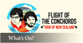 Flight of the Conchords Tour of NZ Wellington