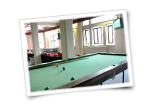 Large Common Area with Pool Table and Games